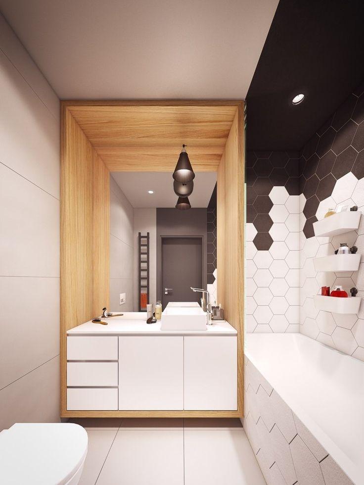 id e d coration salle de bain salle de bains avec meuble sous vasque tiroirs blancs. Black Bedroom Furniture Sets. Home Design Ideas