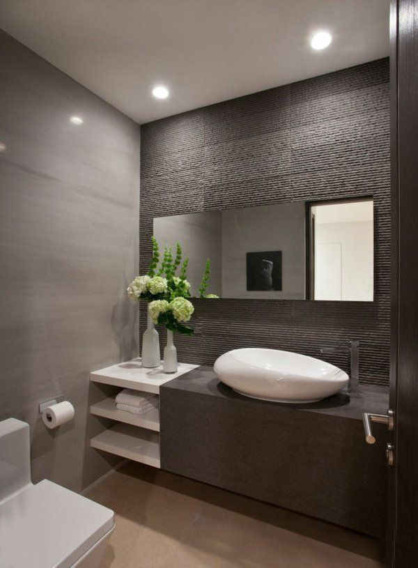 id e d coration salle de bain salle de bains grise. Black Bedroom Furniture Sets. Home Design Ideas