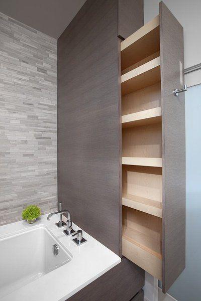 Id e d coration salle de bain m glichkeit f r stauraum im badezimmer - Badezimmer stauraum ...