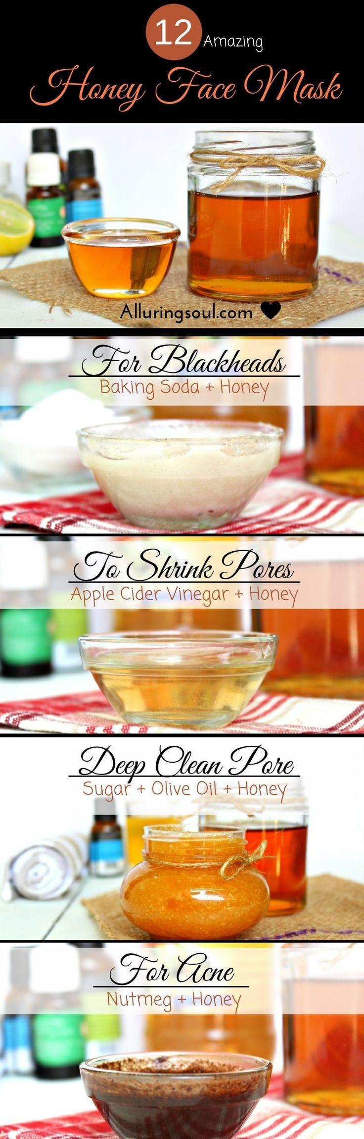Idée pour Soin du Vsage et Acné - miel masque de visage