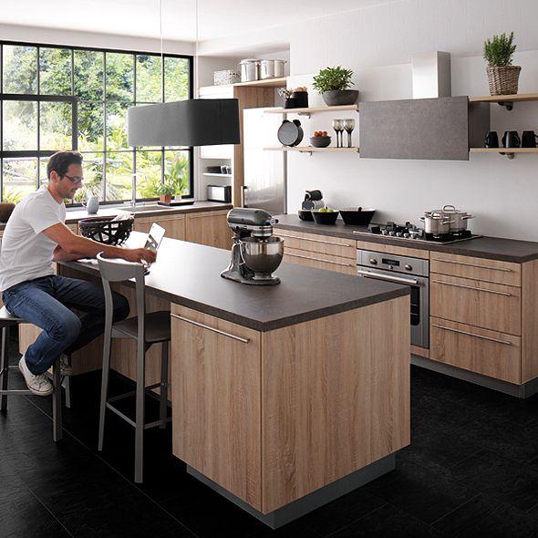 id e relooking cuisine le mod le que nous avons finalement choisi cuisinella label plaqu. Black Bedroom Furniture Sets. Home Design Ideas