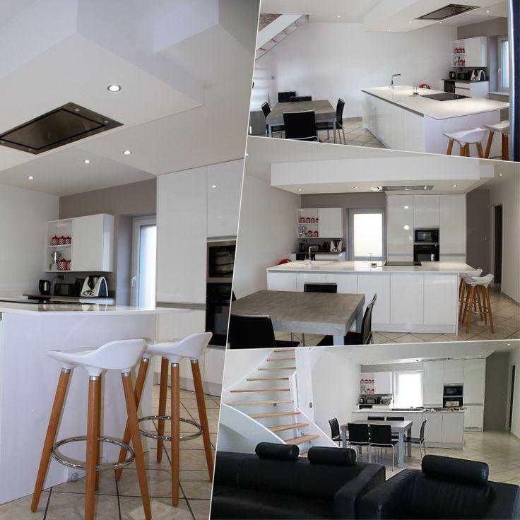 id e relooking cuisine mod le arecas laque blanc brillant plan de travail en quartz blanco. Black Bedroom Furniture Sets. Home Design Ideas