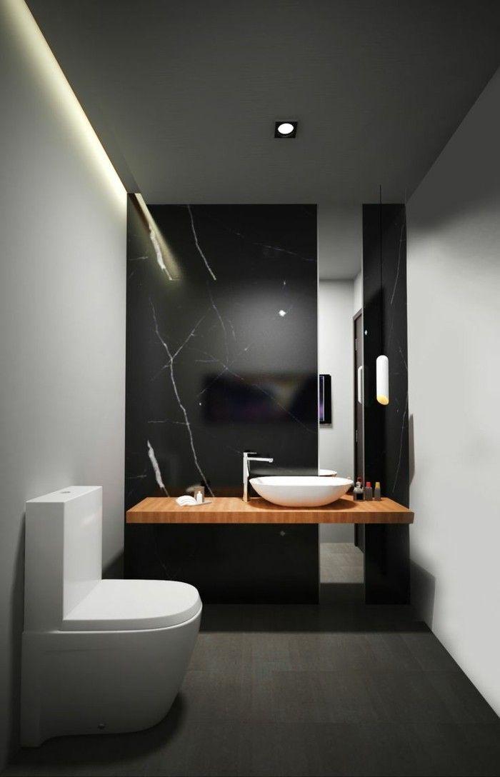 id e relooking cuisine mod le de salle de bain l 39 italienne sol noir mur noir avec luminaire. Black Bedroom Furniture Sets. Home Design Ideas