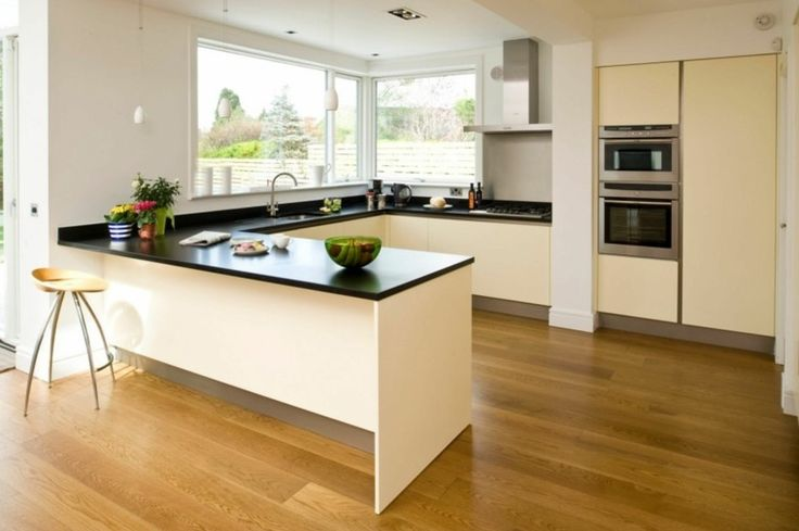 id e relooking cuisine petite cuisine ouverte en forme de l leading. Black Bedroom Furniture Sets. Home Design Ideas
