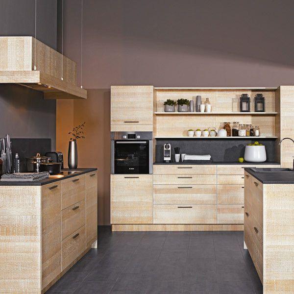 id e relooking cuisine cuisine moderne couleur bois cuisine cuisine moderne en bois avec. Black Bedroom Furniture Sets. Home Design Ideas