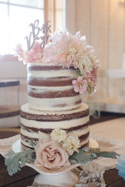 Piece Montee 2017 Rustic Wedding Cake Idea Semi Naked Wedding
