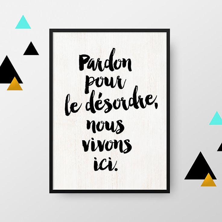 Relooking Et Décoration 2017 / 2018 - Affiche A4: Pardon Pour Le
