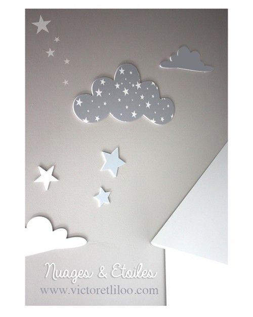 Relooking et d coration 2017 2018 stickers nuages Deco chambre bebe nuage