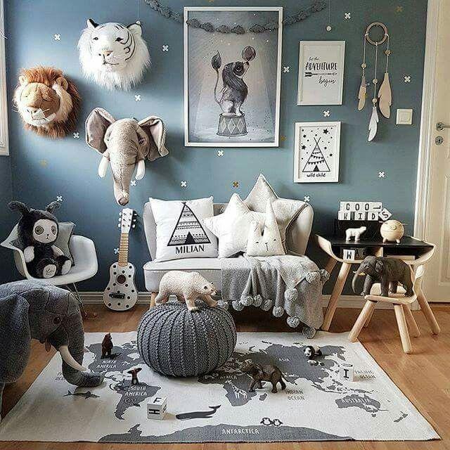 relooking et d coration 2017 2018 d co chambre d 39 enfant inspiration animale. Black Bedroom Furniture Sets. Home Design Ideas