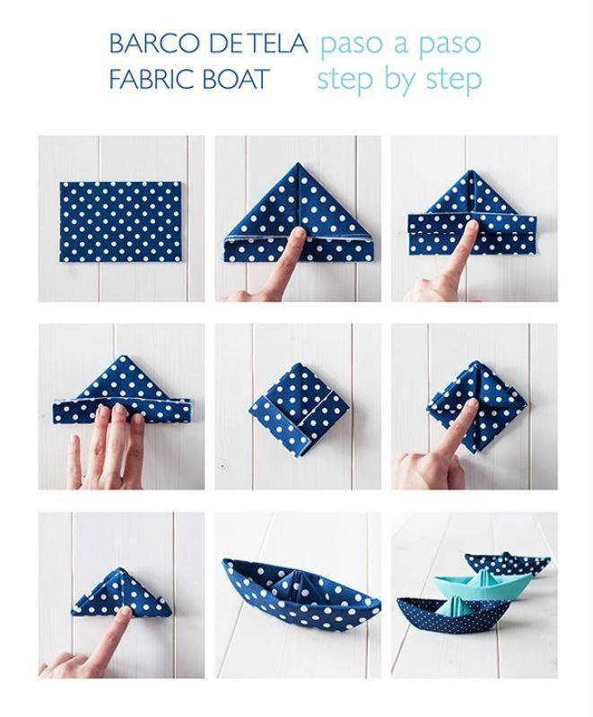 relooking et d coration 2017 2018 diy origami facile bateau en tissu id es et conseils. Black Bedroom Furniture Sets. Home Design Ideas