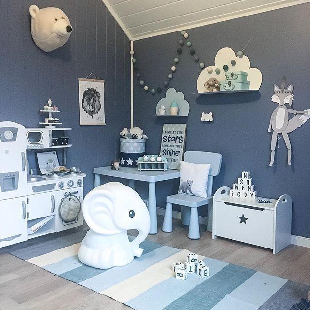 relooking et d coration 2017 2018 j 39 adore cette chambre bleue pour enfants je ne la sens. Black Bedroom Furniture Sets. Home Design Ideas