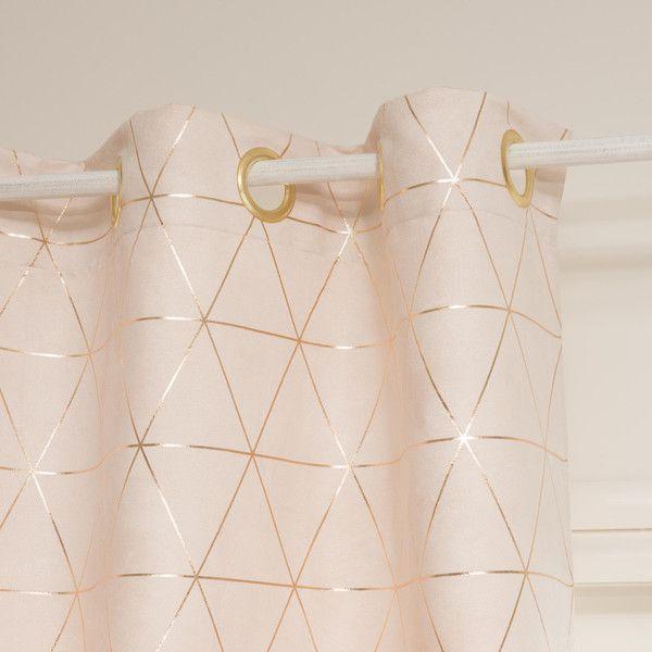 relooking et d coration 2017 2018 rideau en tissu rose p le cuivr. Black Bedroom Furniture Sets. Home Design Ideas