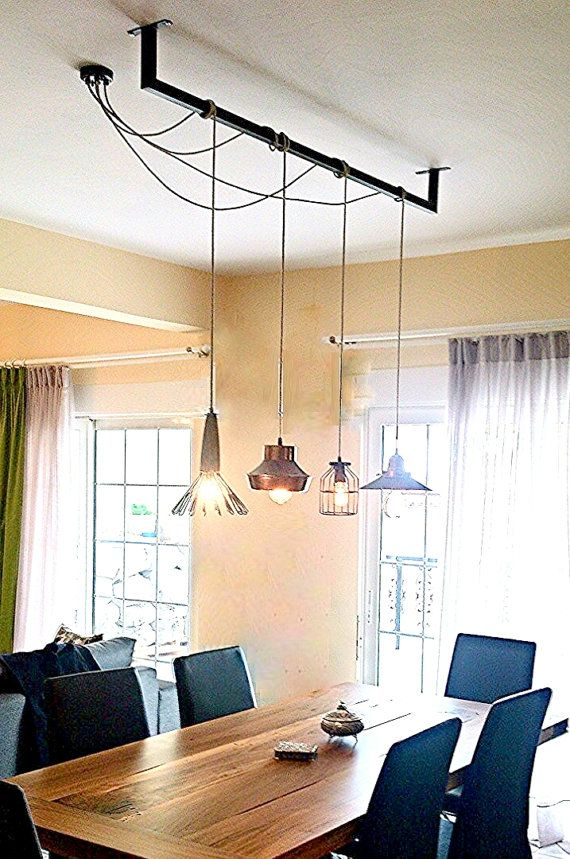 salle manger c bles personnalis s bar luminaire suspendu repas industriel ampoules lampes m. Black Bedroom Furniture Sets. Home Design Ideas