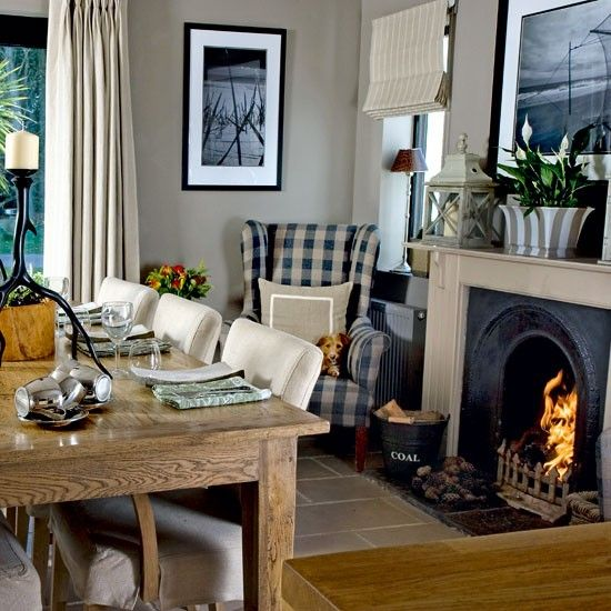 salle manger dining room with roaring fire step inside a cosy fisherman 39 s cottage in the. Black Bedroom Furniture Sets. Home Design Ideas