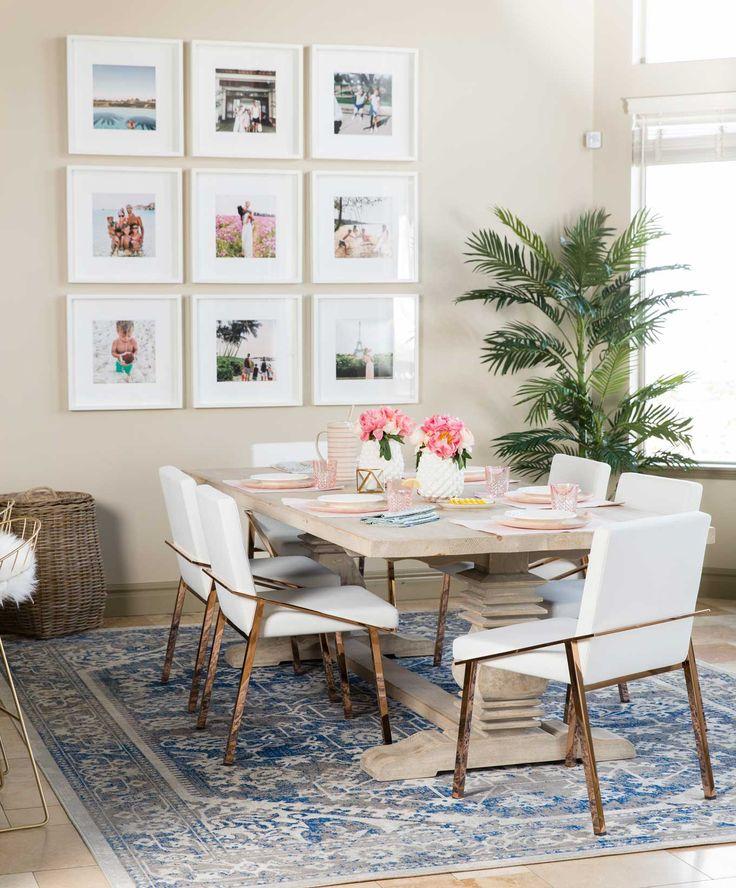 salle manger how to choose a rug rug placement size guide designer trapped. Black Bedroom Furniture Sets. Home Design Ideas