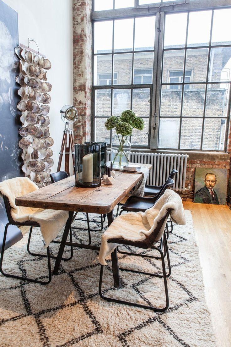 Salle à manger - Le loft de style industriel d\'Heather Kane à ...