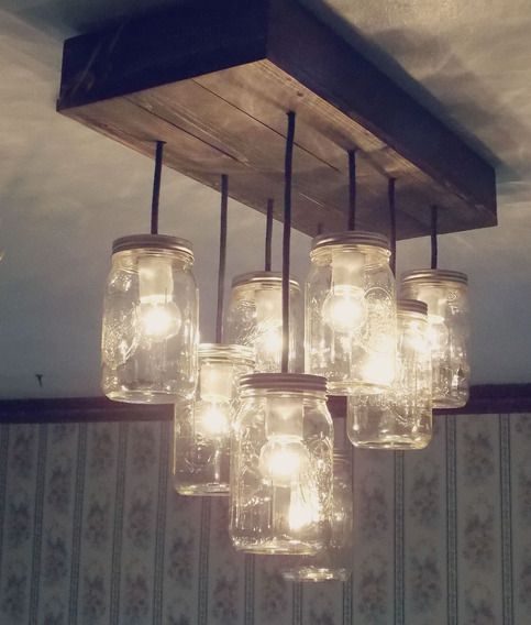 Kitchen Impossible Idee: This Is A Beautiful 8 Light Mason Jar