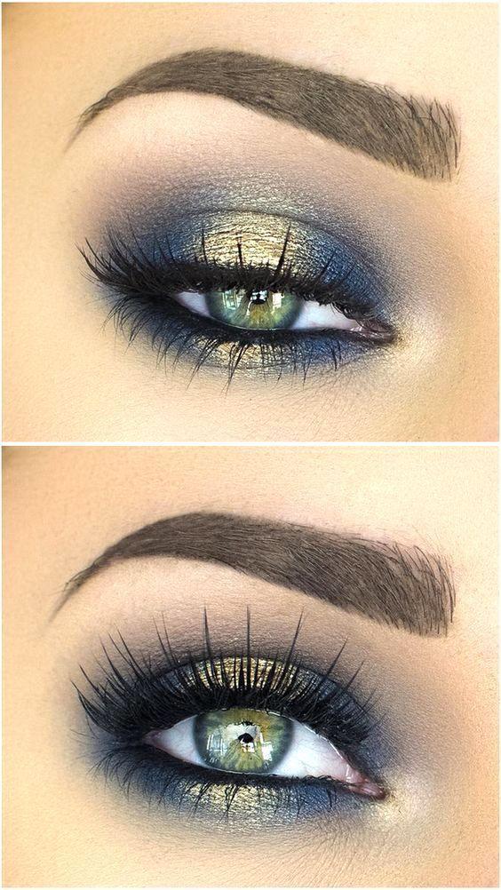 Tendance maquillage yeux 2017 2018 blues of the sea eye makeup look liste des produits de - Tendance make up 2017 ...