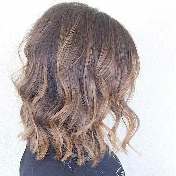 Coupe cheveux mi long couleur chocolat