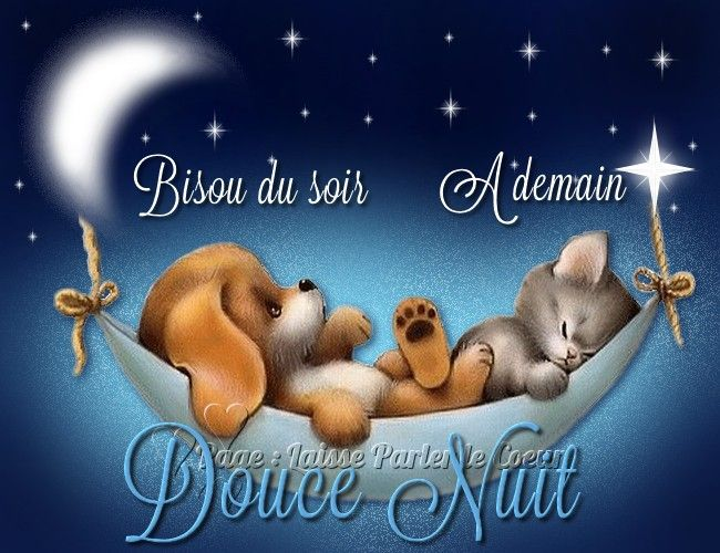 Citation Bisou Du Soir à Demain Douce Nuit Listspirit
