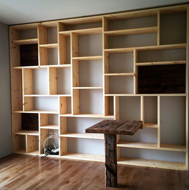 D co salon biblioth que sur mesure - Bibliotheque de bureau contemporain ...