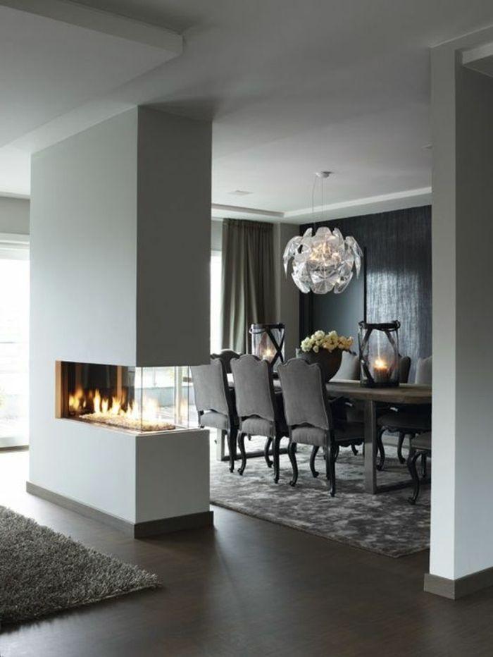 déco salon - chaises contemporaines salle manger de luxe avec ... - Salon Et Salle A Manger Moderne