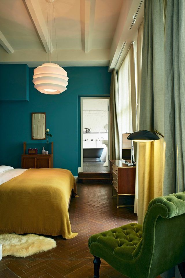 d co salon chambre bleu canard jaune moutarde fauteuil. Black Bedroom Furniture Sets. Home Design Ideas