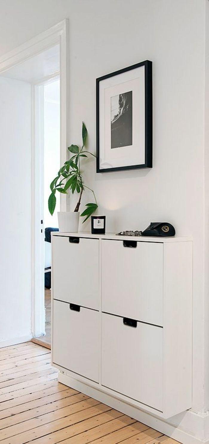 D Co Salon Comment Bien Choisir Le Meuble Chaussure Ikea Blanc  # Meubles Suspendu Ikea