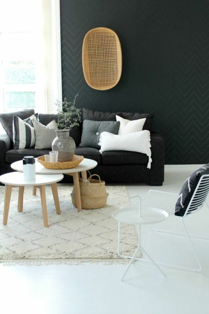 Decorer Son Salon En Gris Et Blanc