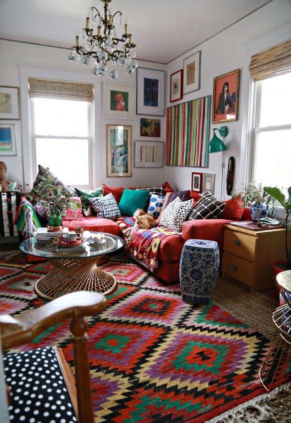 d co salon maximalist style outside of chicago un coin salon boh me. Black Bedroom Furniture Sets. Home Design Ideas