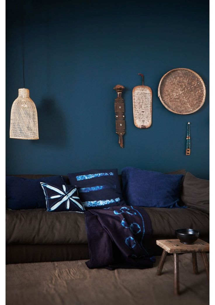 d co salon murs et accessoires indigo pour votre d co leading. Black Bedroom Furniture Sets. Home Design Ideas