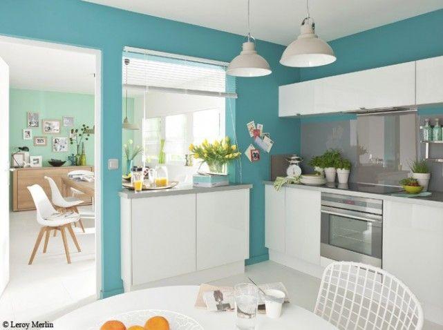 Déco Salon Organisation Idee Deco Cuisine Blanche Et Bleu