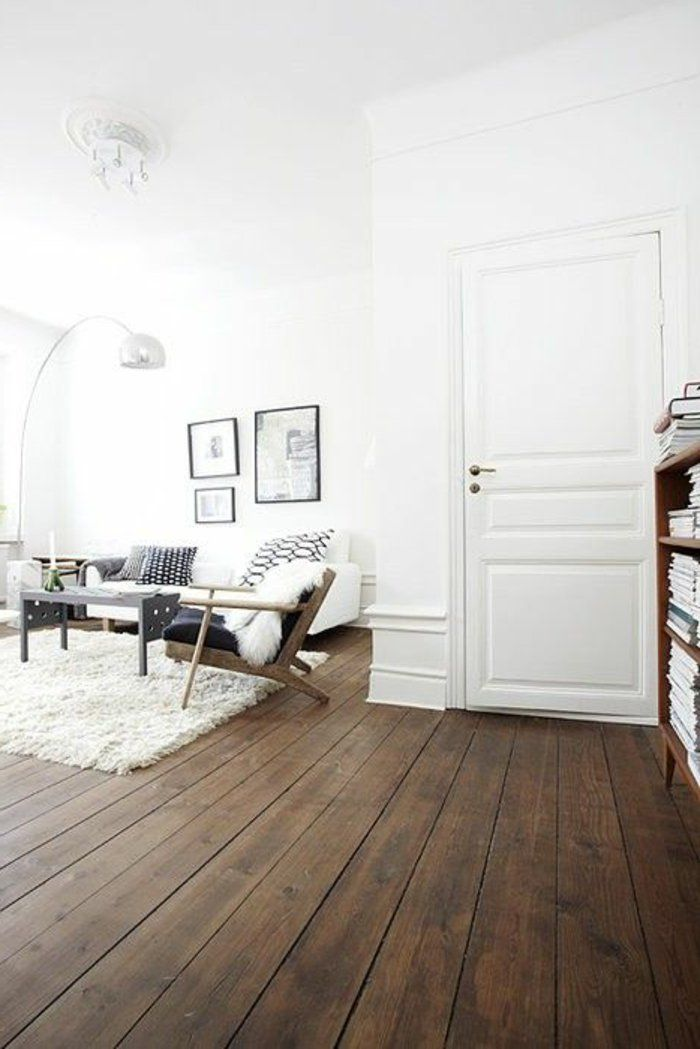 d co salon saint maclou parquet pour le sol dans le salon avec murs blancs. Black Bedroom Furniture Sets. Home Design Ideas