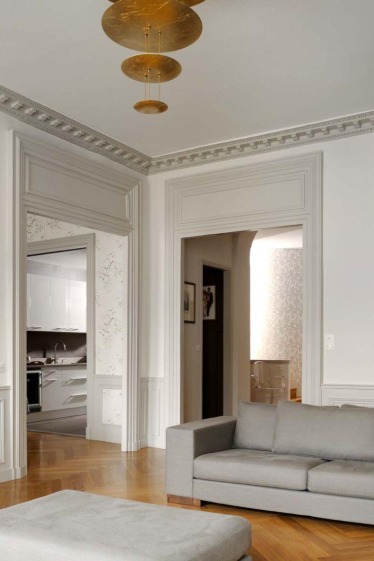 d co salon salon nuance de gris ou de beige pour contours fen tres et cloison de s parat. Black Bedroom Furniture Sets. Home Design Ideas