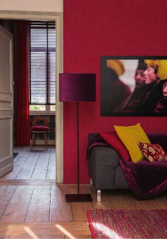 Déco Salon Salon Rouge Moutarde Et Prune Heytens Via Nat Et Nature