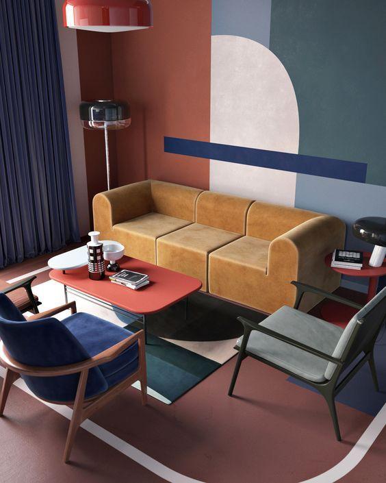 d co salon tendances d co terracota brique marsala leading inspiration. Black Bedroom Furniture Sets. Home Design Ideas