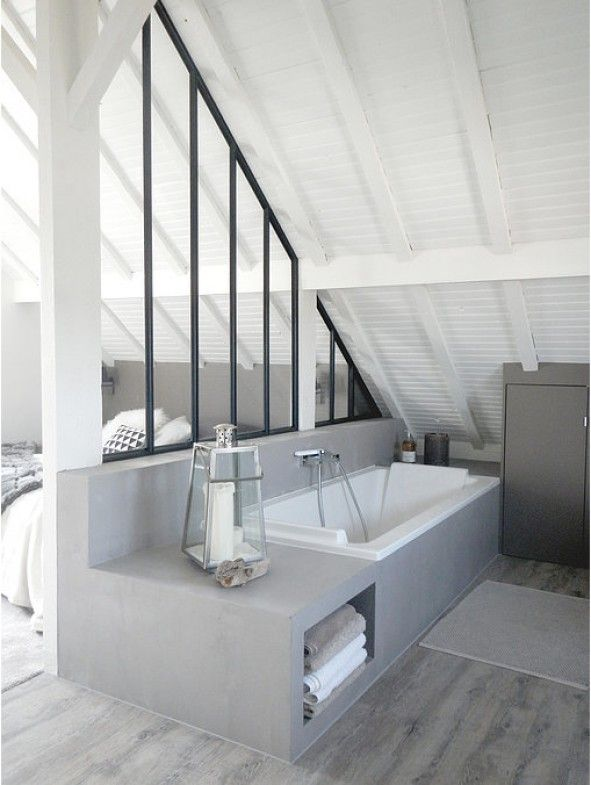Id e d coration salle de bain aac rencontre un archi - Idee deco salle de bain avec baignoire ...