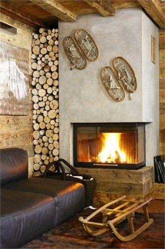 Id e d coration salle de bain ambiance chalet d co cgarme bois paysages montagne - Deco ambiance chalet ...