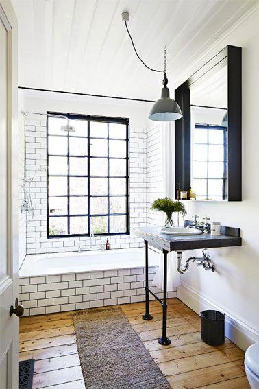Idée décoration Salle de bain - Ambiance rétro pour la déco d\'une ...