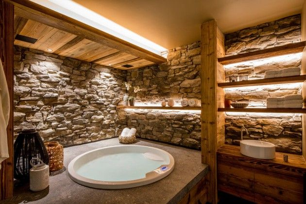 Idée décoration Salle de bain - Chalet à Méribel salle de bain ...