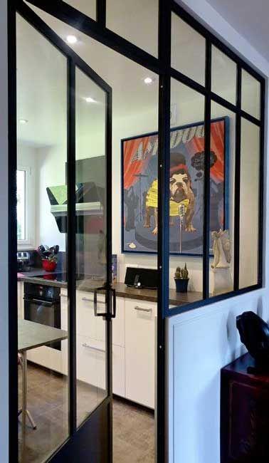 id e d coration salle de bain d limiter la cuisine avec une verri re int rieure listspirit. Black Bedroom Furniture Sets. Home Design Ideas