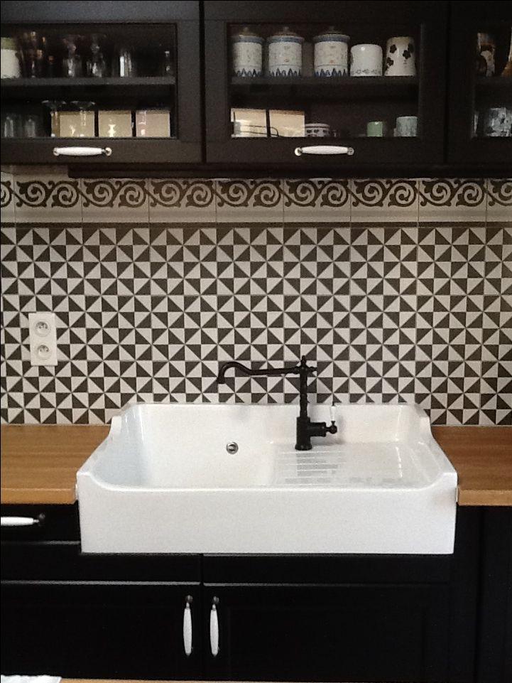 Id e d coration salle de bain evier encastr cuisine - Faience cuisine ikea ...