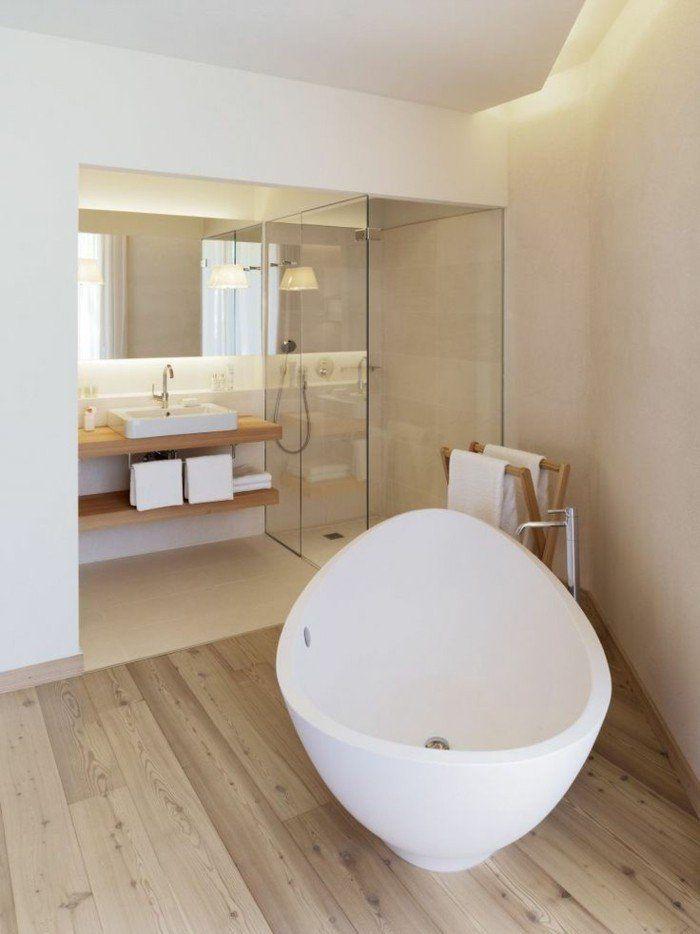 Id e d coration salle de bain jolie baignoire blanche for Idee salle de bain blanche