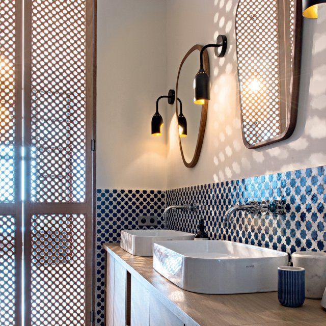 Id e d coration salle de bain lumi re du sud dans la Deco salle de bain orientale