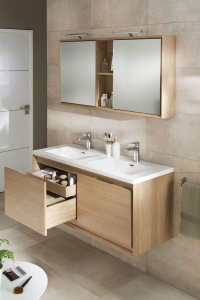 Id e d coration salle de bain meuble de salle de bains for Meuble sdb lapeyre