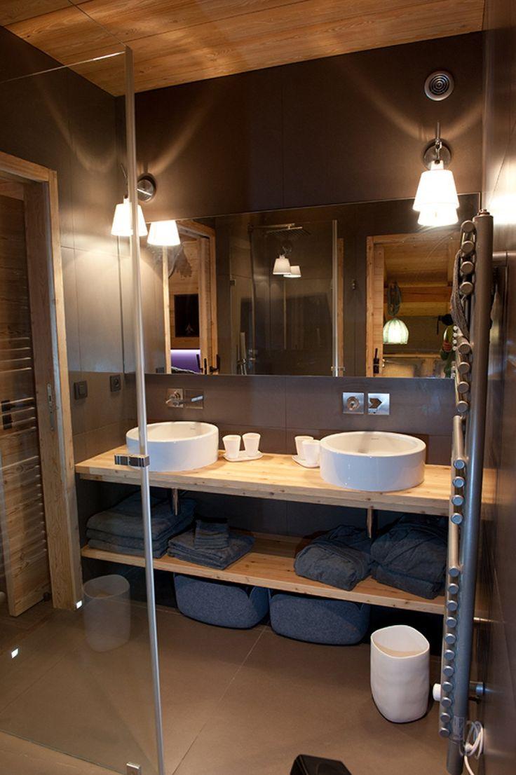 id e d coration salle de bain photo de chalets maisons ossature bois et architecture d. Black Bedroom Furniture Sets. Home Design Ideas