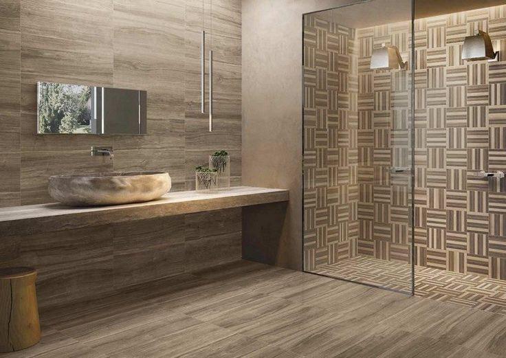 Id e d coration salle de bain salle de bain moderne avec for Sol salle de bain bois