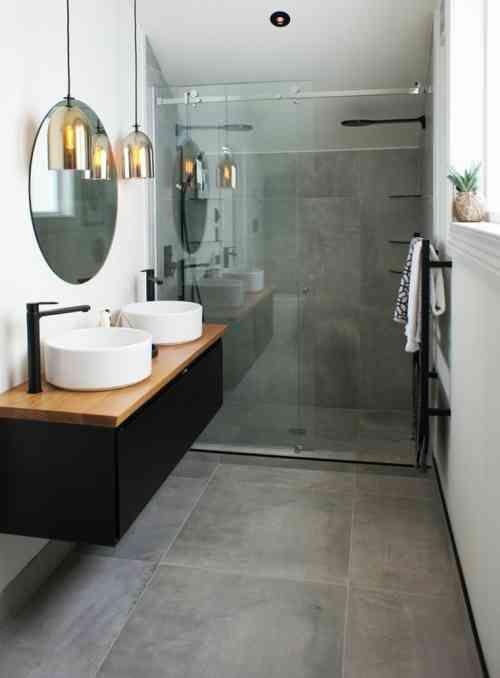 Id e d coration salle de bain salle de bains de style for Amour dans la salle de bain