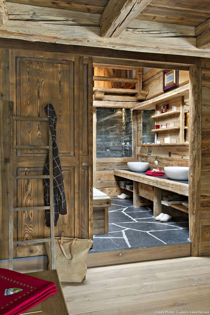 id e d coration salle de bain sdb ardoise double vasques. Black Bedroom Furniture Sets. Home Design Ideas