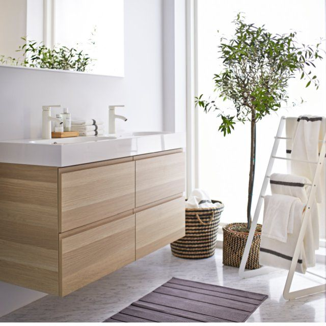id e d coration salle de bain une salle de bains scandinave ikea marie claire maison. Black Bedroom Furniture Sets. Home Design Ideas